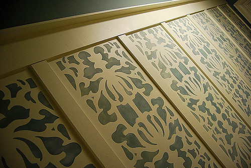 Damask stencil. Beautiful wall stencils by Cutting Edge Stencils. | by cuttingedgestencils