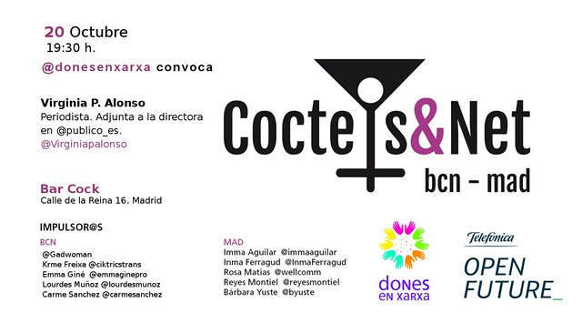 Coctels&Net madrid 20 Octubre con Virginia P. Alonso