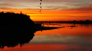 Sunset over the Mekong | by mwiththeat
