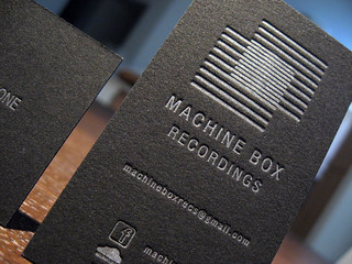 Metallic Letterpress Business Cards | by dolcepress