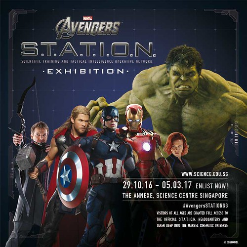 MARVEL AVENGERS S.T.A.T.I.O.N Coming To Science Centre Singapore