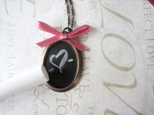 chalkboard necklace diy - finished! | by BrideBlu Vintage Handmade
