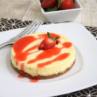 Lime Cheesecake with Strawberry Sauce | by Tracey's Culinary Adventures