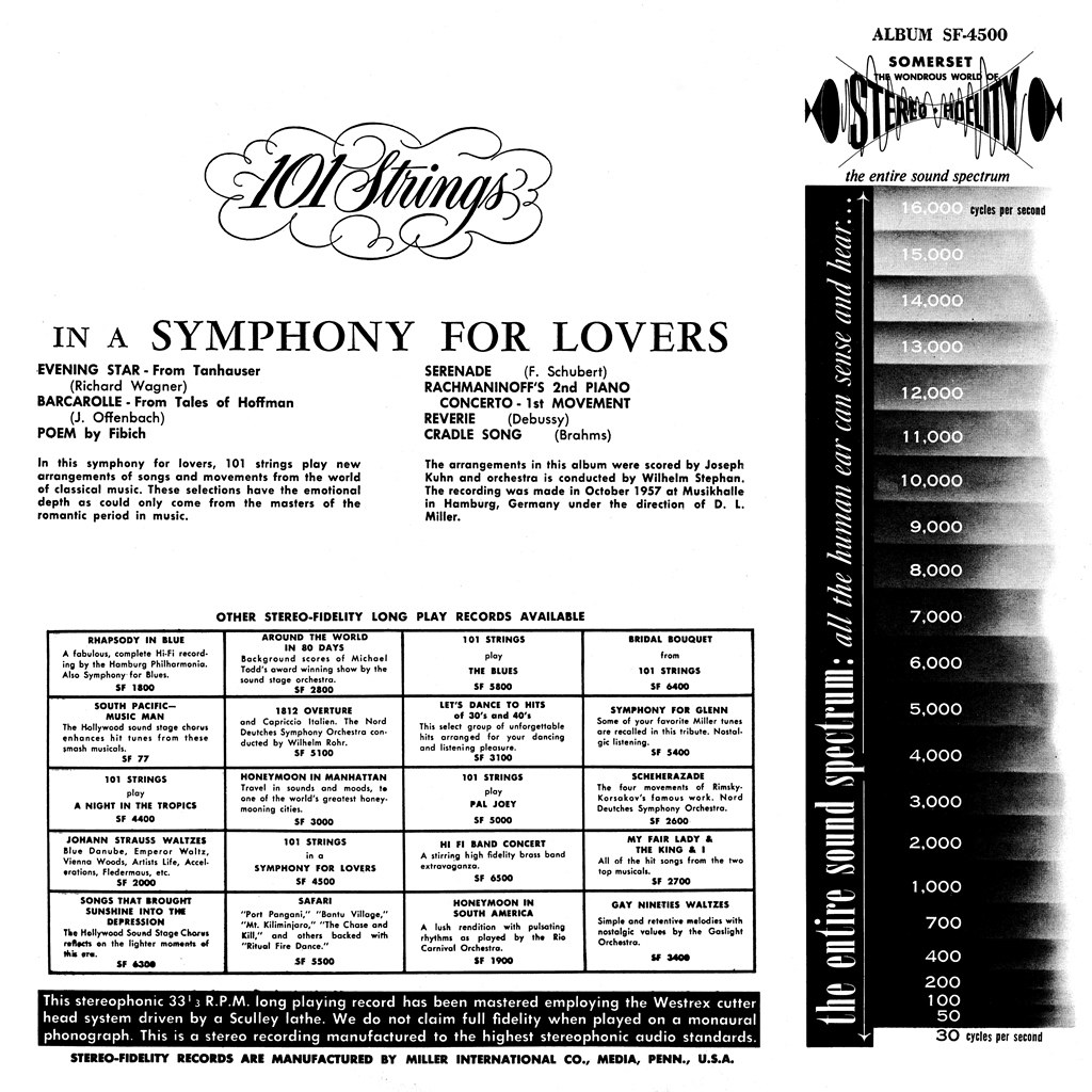 101 Strings in a Symphony for Lovers