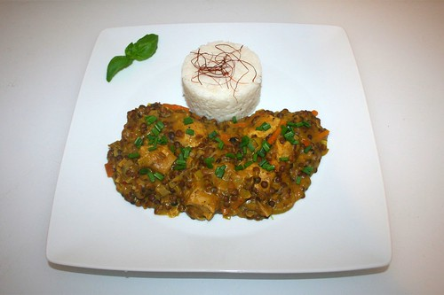 47 - Leek lentil curry with chicken / Lauch-Linsen-Curry mit Huhn - Serviert