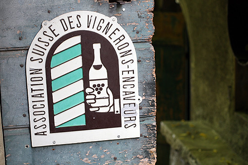 swiss wine association plaque | by David Lebovitz