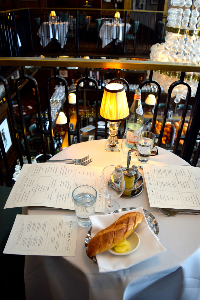 Table for two at Cafe Monico, Soho | www.rachelphipps.com @rachelphipps