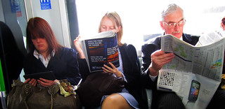 Three ages of Reading on the Tube | by Annie Mole