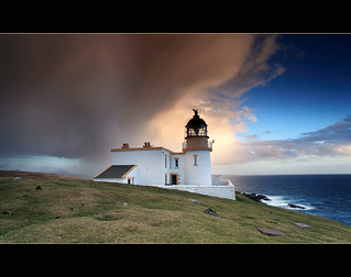 Rainshowers Stoer Lighthouse | by angus clyne