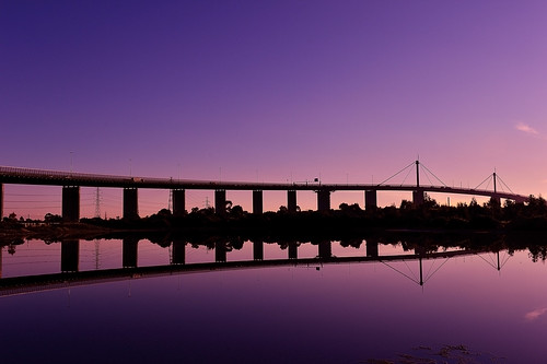 Bridge and reflection | by john@aus