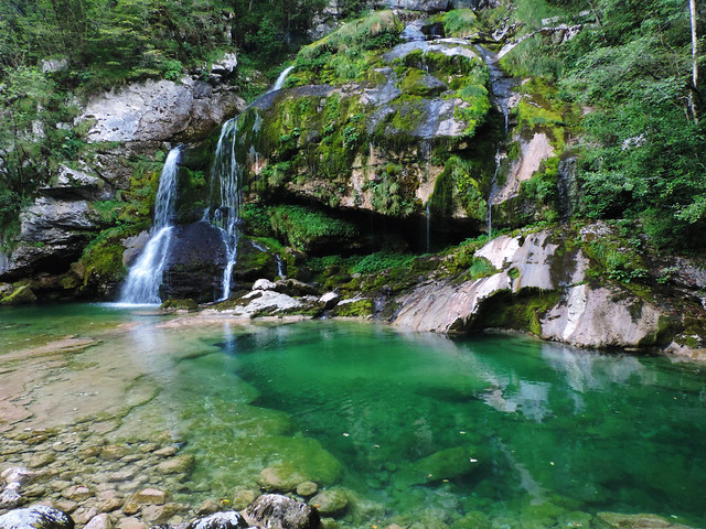 Virje Waterfall,Triglav National Park, Slovenia