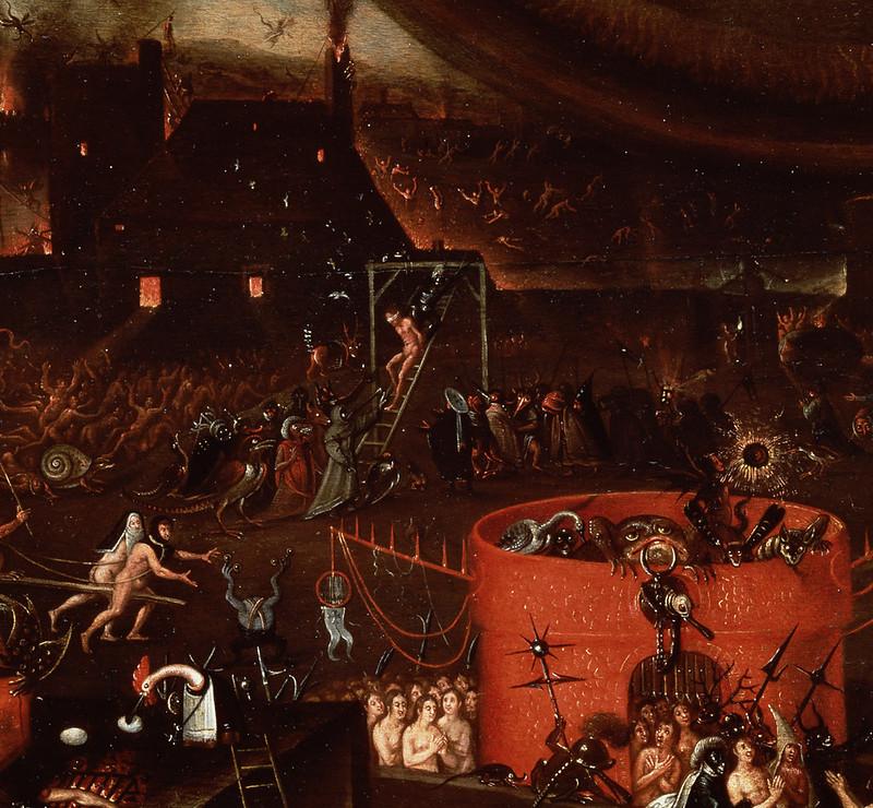 Herri met de Bles - The Inferno, detail 2, 16th C