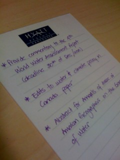 For all my geekiness, I write my To Do list by hand /)