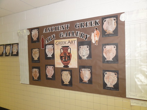 Ancient History Classroom Decorations ~ Greek art the students drew scenes from ancient greece