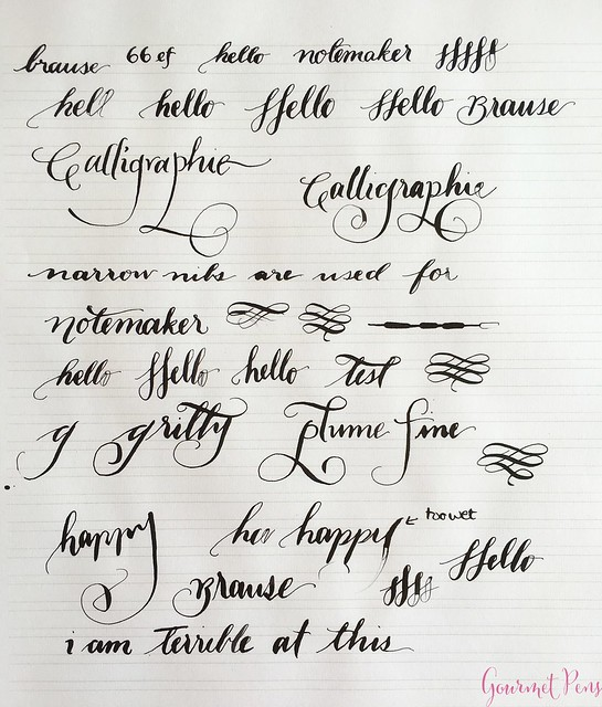 Review Brause Dip Pen Set - A Starter Dip Nib Set for Calligraphy @NoteMakerTweets  8
