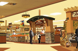 Interior market rendering grocery store design demonst for Kitchen remodel yuba city ca