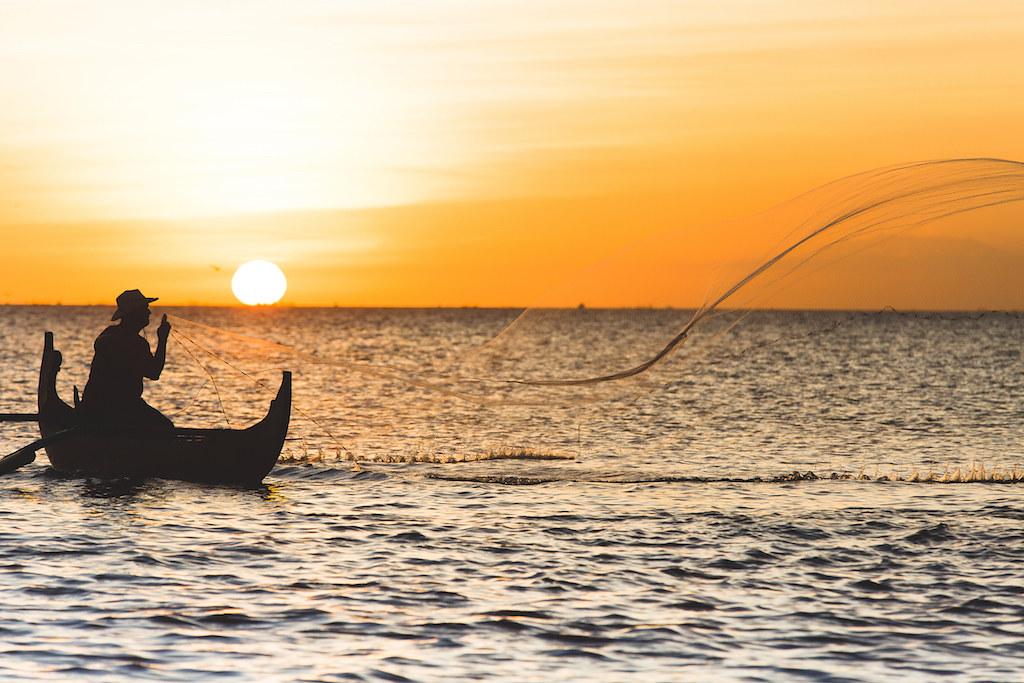 Pescador en Jimbaran