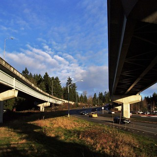 I-90 Interchange at Eastgate - Bellevue WA | by KurtClark