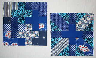 Blue bee blocks | by freshlypieced