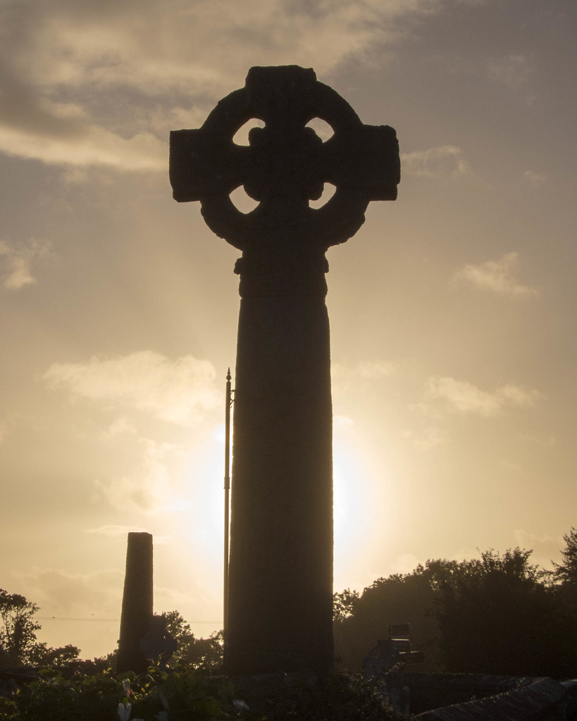 Celtic cross at Drumcliffe