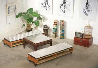 Pallet style sofas and coffee table | by Jonas' Design
