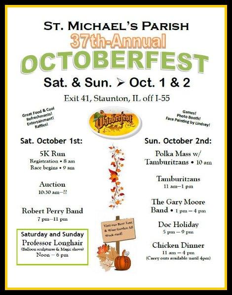 St Michael's Octoberfest 10-1, 10-2-16