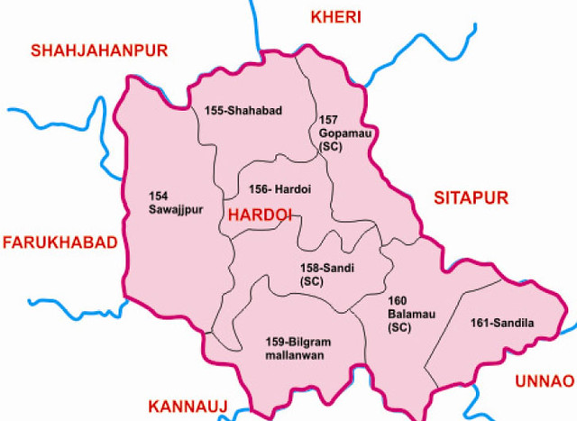 Hardoi district Uttar Pradesh Election 2017