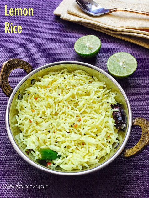 Lemon Rice Recipe for Toddlers and Kids1