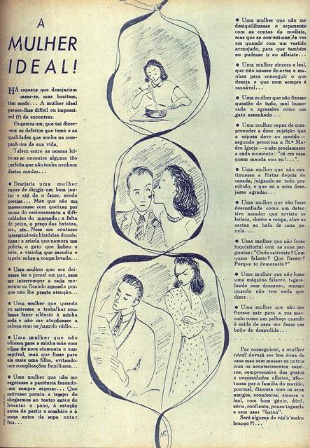 Menina e Moça, Nº 9, Janeiro 1948, A Mulher Ideal