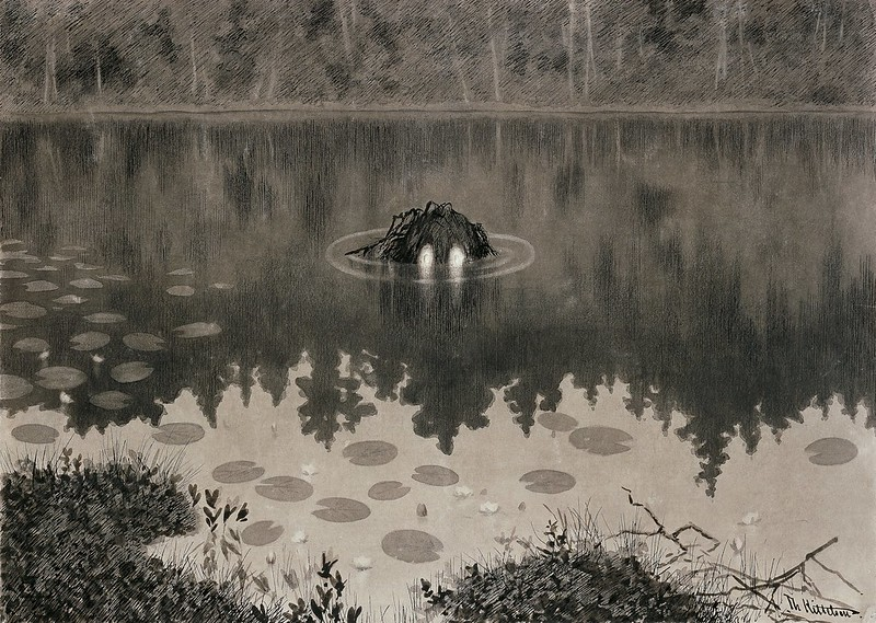 "Theodor Kittelsen -Illustration for ""Troldskab "" Christiania, 1892"