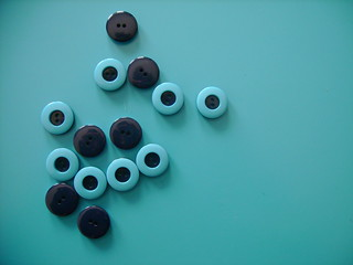 blue buttons! | by katie:m