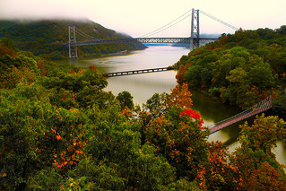 Foggy Skies over Bear Mountain Bridge | by SunnyDazzled