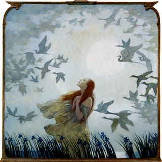 'All Birds Shall Have Homes' out and away in the blue mist, off and gone in the gray haze.... 1928 by N. C. Wyeth | by Plum leaves