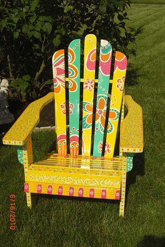 Flower Power Adirondeck Chair