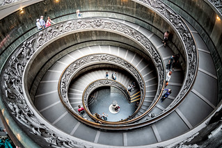 Spiral (double helix) stairway in the Vatican Museum | by baldheretic
