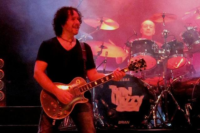 Vivian Campbell & Brian Downey of Thin Lizzy Aberdeen 2011
