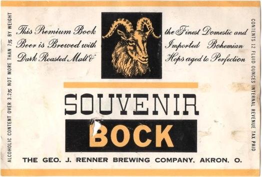 Souvenir-Bock-Beer-Labels-Geo-J-Renner-Brewing-Company