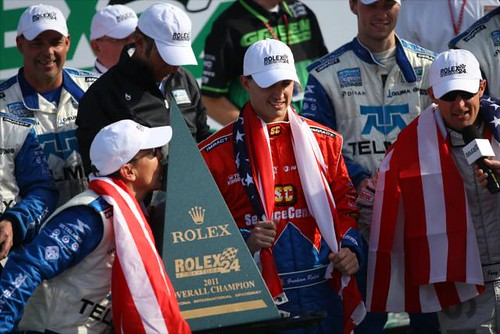 Scott Pruett shows his love for the Rolex 24 trophy | by IndyCar Series