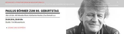 Paulus Böhmer Fest 80 Litforum