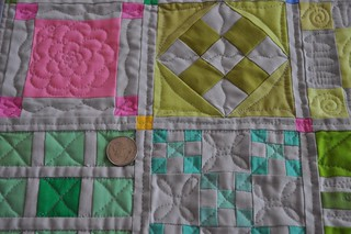 No Prints Allowed quilting closeup | by vickivictoria