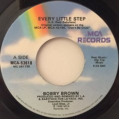 BOBBY BROWN:EVERY LITTLE STEP(LABEL SIDE-A)