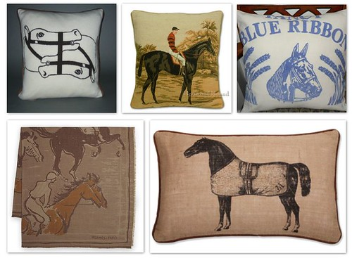 Equestrian Pillows | by Design Wotcha! http://designwotcha.com/