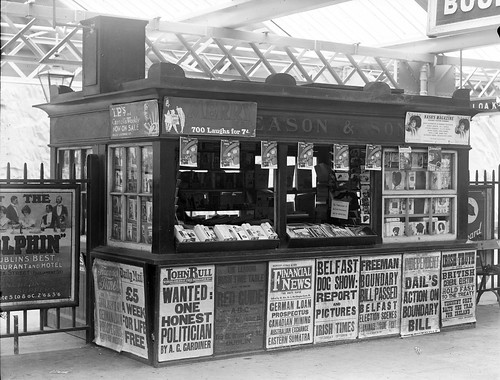 Eason's Book Stall at Waterford Train Station | by National Library of Ireland on The Commons