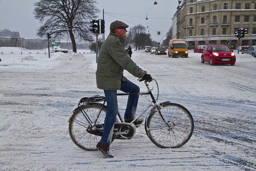 Winter Traffic Copenhagen Flat Cap - Winter Cycling in Copenhagen | by Mikael Colville-Andersen