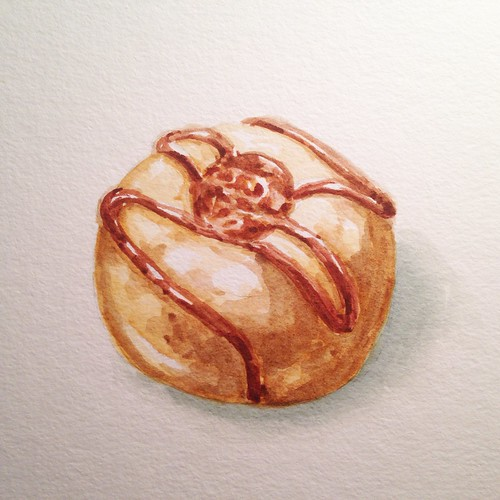 Donut 3, watercolor