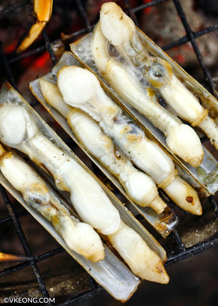 Mangkorn Seafood BBQ Razor Clams