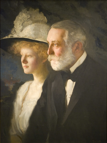 Henry Clay Frick (1849–1919) with his daughter, Helen Clay Frick (1888–1984) | by Maulleigh
