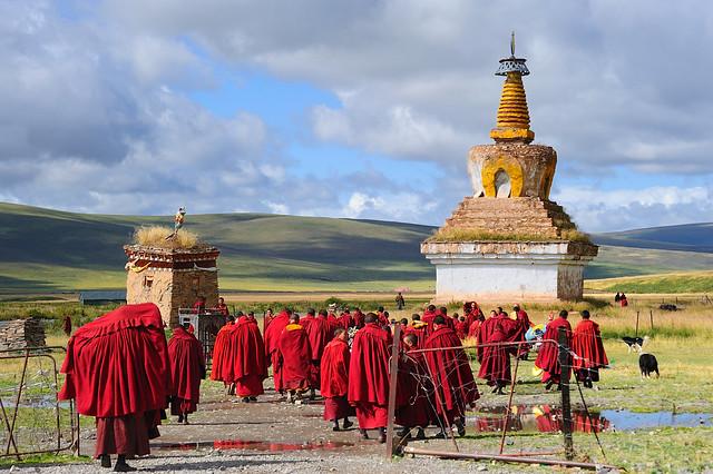 Sershul Tekchen Dargyeling monastery. Tibet