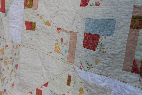 Improv Star Hand quilting Perle Cotton