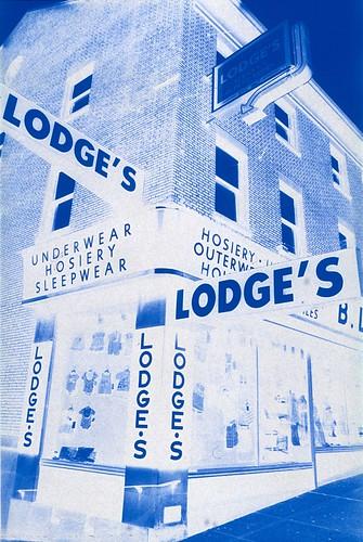 Lodge's Variety Store, Albany NY - taken with Polaroid PolaBlue film